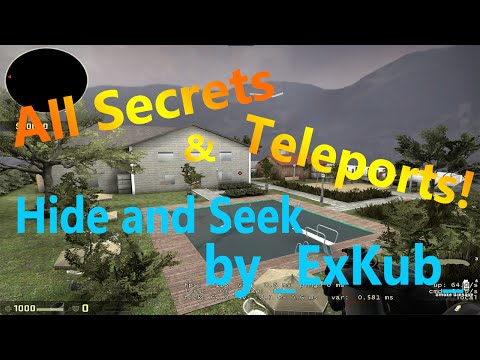 CS:GO Hide and Seek _exkub_ All Locations, Secrets, and Teleports!
