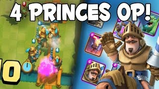 4 PRINCES TOO STRONG Mirror Deck Maxing W Gems Ep 5 Clash Royale