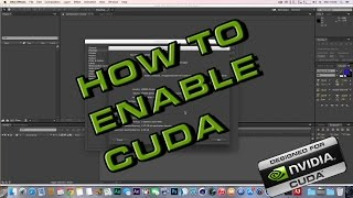 how to enable cuda on adobe after effects cc mac hackintosh