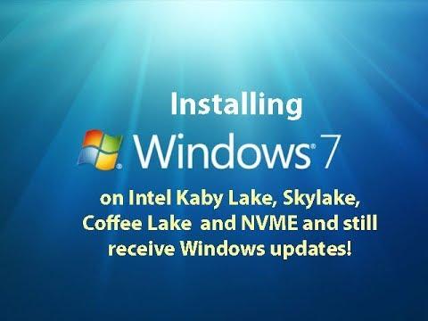 Installing Windows 7 on Kaby Lake, Skylake, Coffee Lake and NVME - LIVE