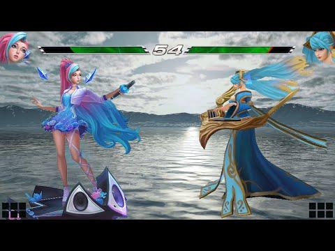 Seraphine vs Sona   Full Build FIGHTS