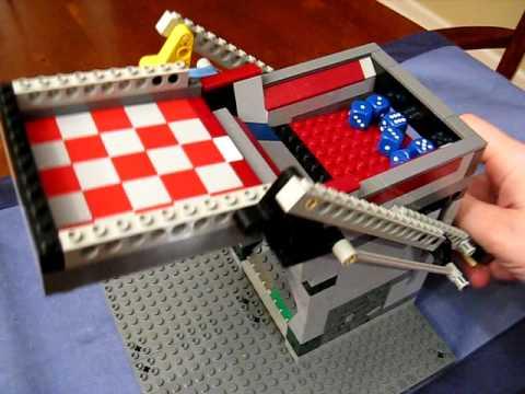 Self-Loading LEGO Dice Tower