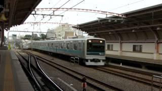 Odakyu Railway 小田急線・梅ヶ丘駅 3000形電車と特急ロマンスカーVSE