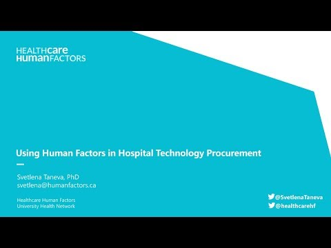 Using Human Factors in Hospital Technology Procurement
