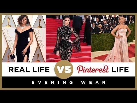 Pinterest Life vs. Real Life: Evening Wear