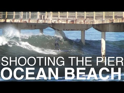 Surfers Shooting the Pier at Ocean Beach (December 1st 2015)
