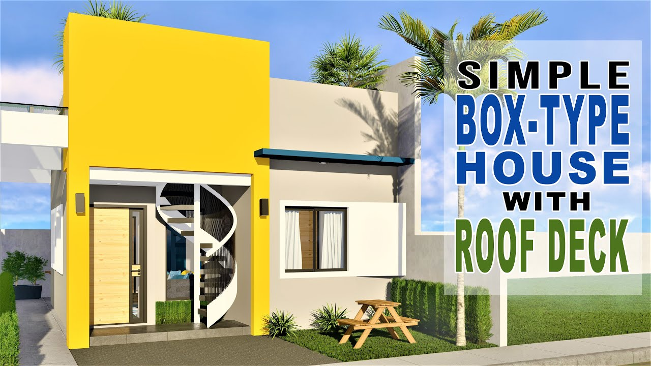 Small House Design With Roof Deck 6m X 7 5m Youtube