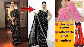* Zatki.com * Affordable party wear , designer saree review & try on | designer replica saree review