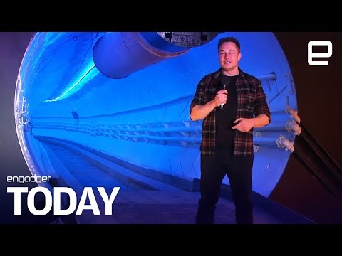 Elon Musk's LA tunnel turns Teslas into an underground train | Engadget Today
