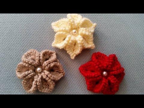 3d çiçek Nasıl Yapılır Tığ Işi çiçek Yapimi örgü Modelleri Youtube