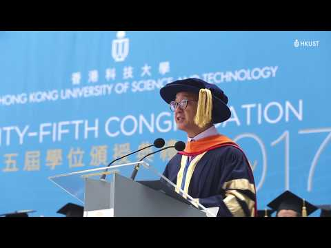 Words Of Wisdom From President Tony Chan At The 25th Congregation 2017: