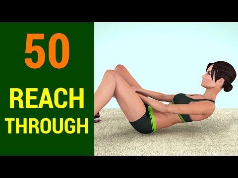 50 Reach Through Challenge [Abs +Six Pack + Flat Stomach]
