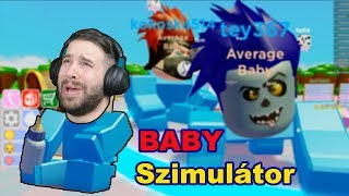 I BECAME A BABY! È HORRIBLE! -ROBLOX BABY SIMULATOR