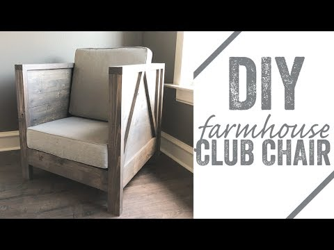 DIY Farmhouse Club Chair