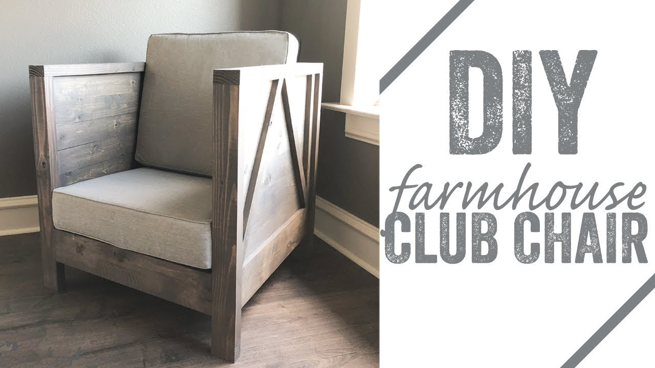 Wood Club Chair Diy Farmhouse Club Chair