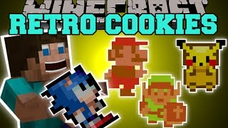 Minecraft: RETRO COOKIES (GAIN POWERS FROM MARIO, SONIC, LINK, & PIKACHU!) Mod Showcase