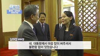 문대통령, 김여정과의 만남 총정리, 올림픽 개막식, 단일팀 경기 관전, 삼지연 공연관람