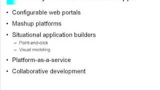 Making sense of mashups, platform-as-a-service and situational apps