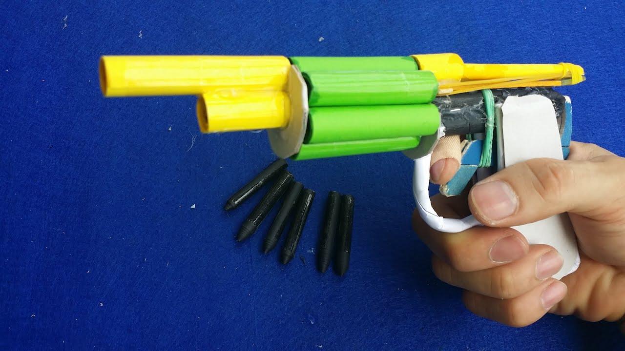 Faire un pistolet revolver en utilisant du papier tire 6 balles youtube - Comment fabriquer un pistolet ...