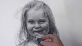 Jonny Andvik tegner portrett