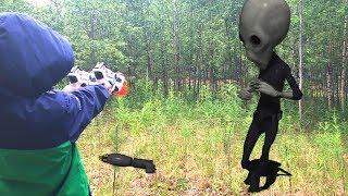 Nerf Game alien vs Bogdan нерф игра Богдан против пришельцев часть 1