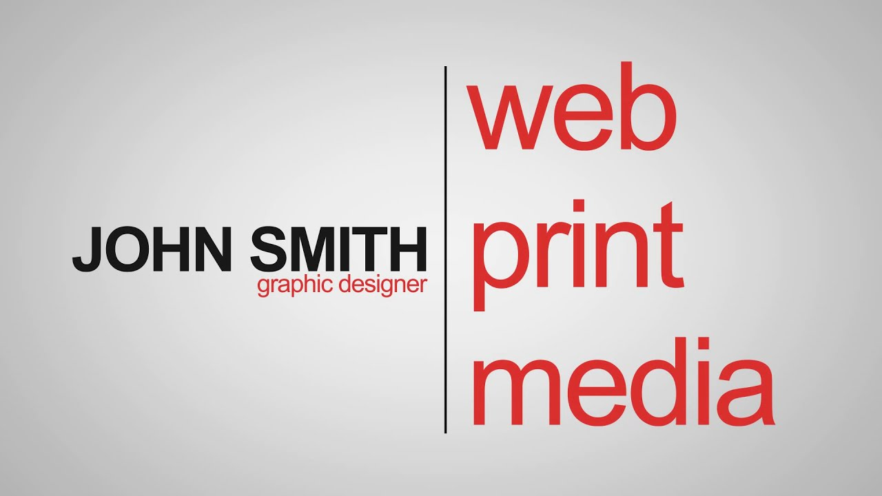 Online Business Card After Effects Templates