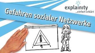 Gefahren sozialer Netzwerke einfach erklärt (explainity® Erklärvideo)