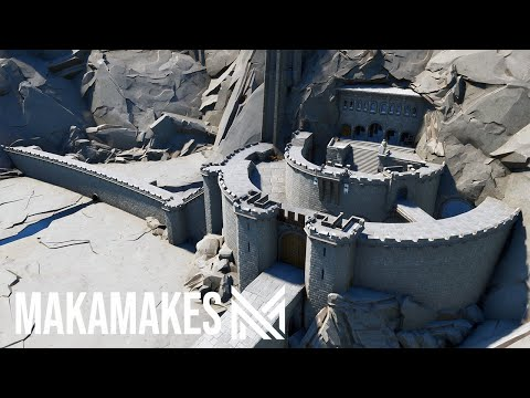 Constructing A MEDIEVAL CASTLE In Fortnite Creative (Helms Deep)