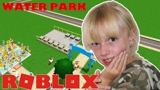 ROBLOX Water Park World. BUILDING MY OWN WATER PARK | Suziegameplay