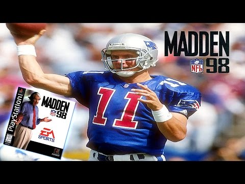 Madden NFL 98 - (PS1) -1080p HD - Patriots at Panthers | Bledsoe to Glenn!