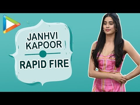Janhvi Kapoor:  I want Kamli from SANJU to be my BESTFRIEND  | RAPID FIRE | Dhadak