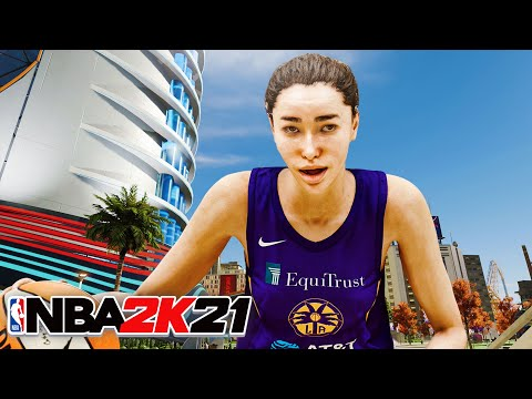 I CREATED A 5'7 GIRL DRIBBLE GOD and brought her to the city.. (nba 2k21)