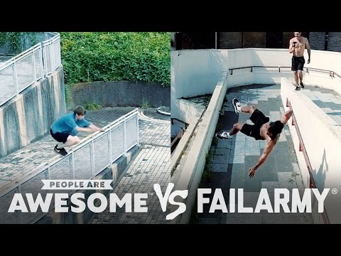 Wins VS. Fails in Freerunning, Kiteboarding, Seesaws & More! | People Are Awesome VS. FailArmy
