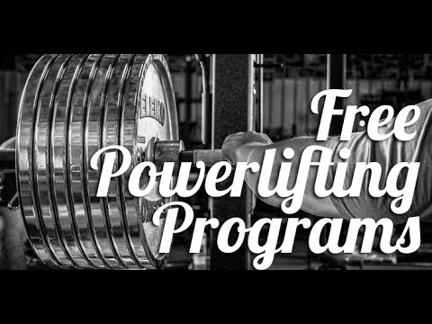 Free Novice and Intermediate Powerlifting Programs