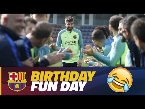 Piqué gets 'special' birthday wishes from teammates