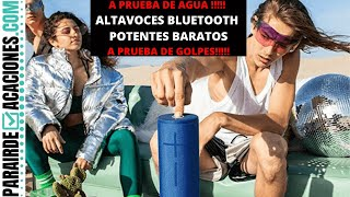 12 SUPER MINI ALTAVOCES PORTATILES BLUETOOTH IMPERMEABLES POTENTES Y BARATOS   PARAIRDEVACACIONES