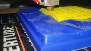 Conformal 3D Printing - Cylinder On z = sin(x)sin(y)
