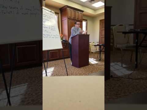 """Dr. Richard Vulich """"Moral Blind Spots"""" pt. 2"""