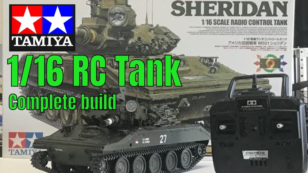 New Tamiya 1/16 RC M551 Sheridan remote controlled tank Complete step by  step build