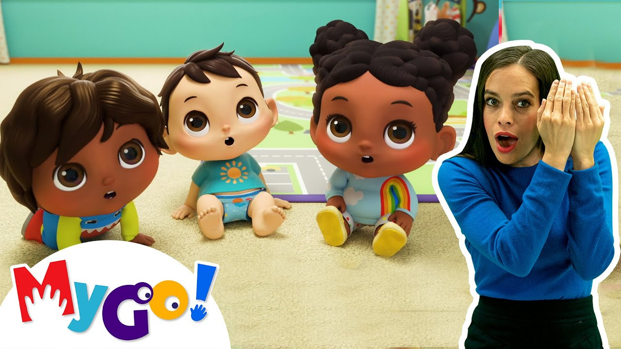 Download Peekaboo | MyGo! Sign Language For Kids | Little Baby Bum - Nursery Rhymes | ASL