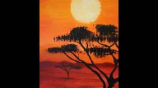 "Acrylic ""Sunset in Africa"""