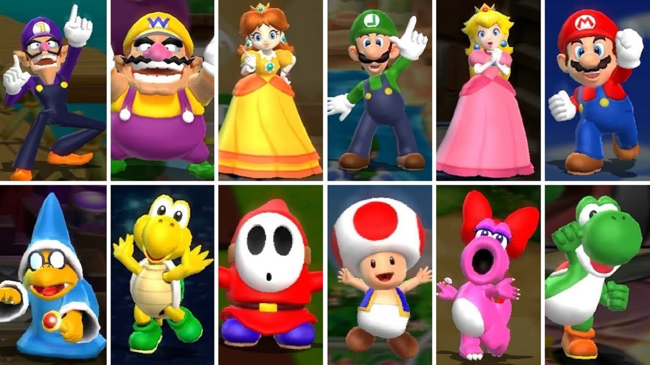 Mario Party 9 All Playable Characters Youtube