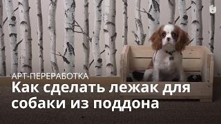 Как сделать лежак для собаки из поддона   Арт-переработка