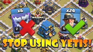 TH12 YETIS SUCK! TH12 Queen Charge Miners is the Strongest TH12 Attack Strategy 2020 in CoC