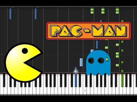 Pac Man Main Theme Song Synthesia Tutorial Youtube