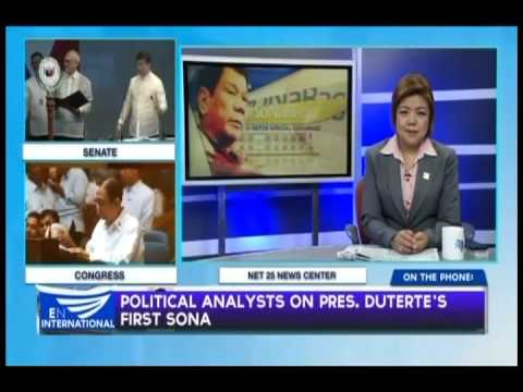 POLITICAL ANALYSTS ON PRES.DUTERTE'S FIRST SONA