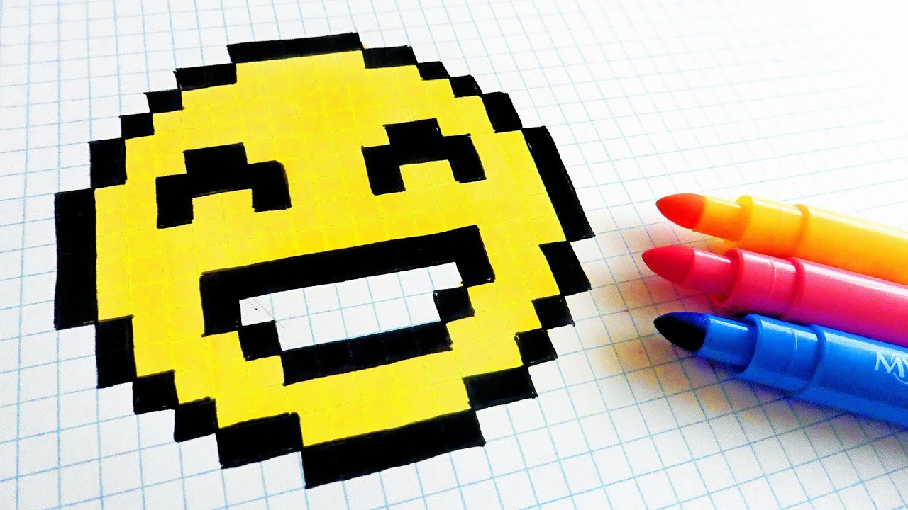 Handmade Pixel Art How To Draw Emoji Pixelart Youtube