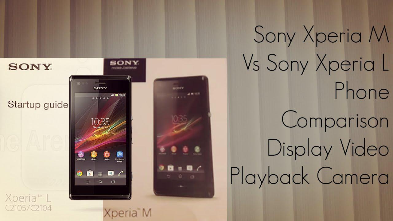 Kindle Vs Sony Reader: Sony Xperia M Vs Sony Xperia L Phone Comparison Display