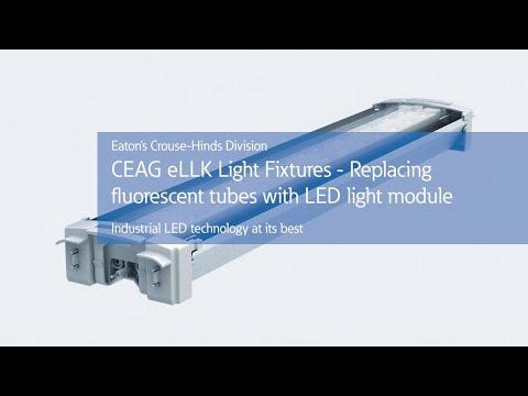 Retrofitting CEAG eLLK fluorescent fixtures to LED technology
