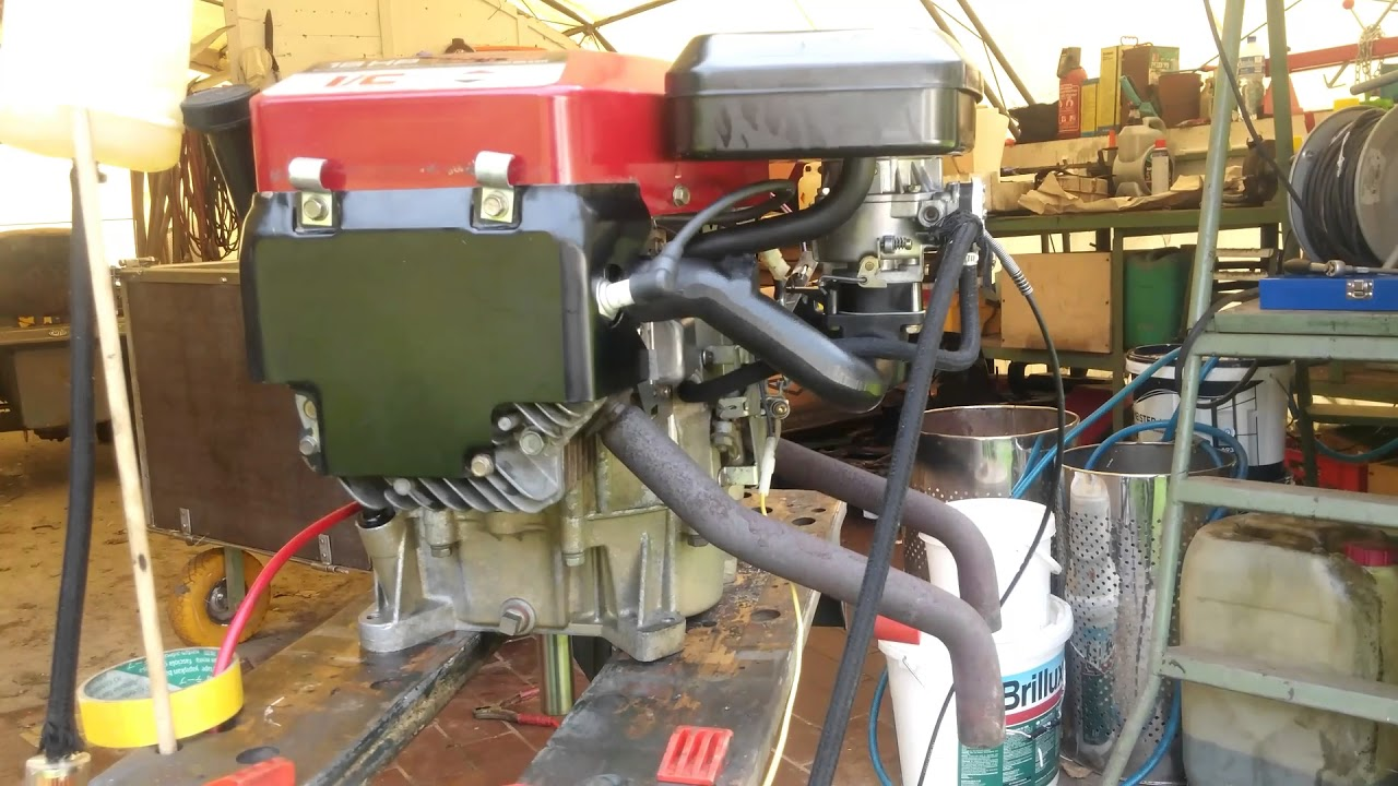 No Muffler Briggs Stratton Opposed Twin 2 18hp Test Bench Youtube